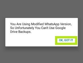 Aceptar App GBWhatsApp