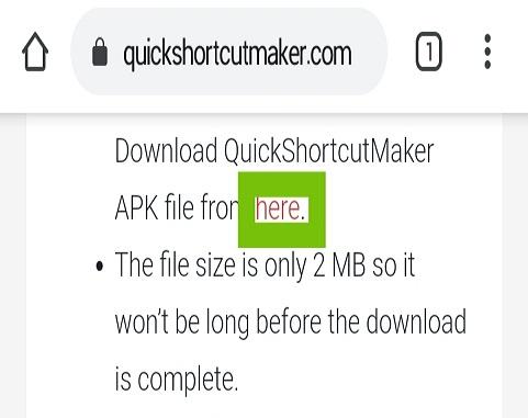 Descargar e instalar archivo APK QuickShortcutMaker