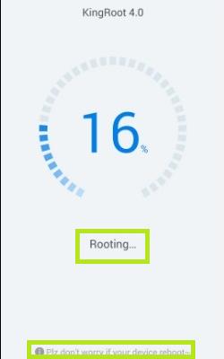 Inicio de root KingRoot