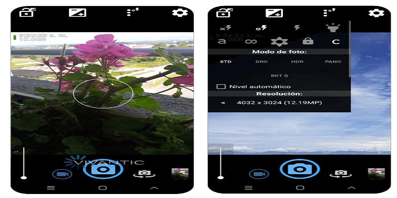 Aplicación de cámaras profesionales