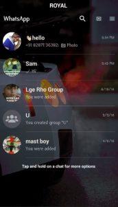 Royal WhatsApp Transparent 5